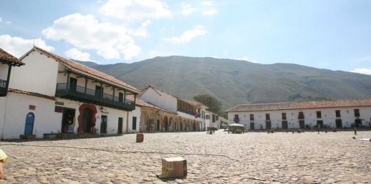 The large main plaza