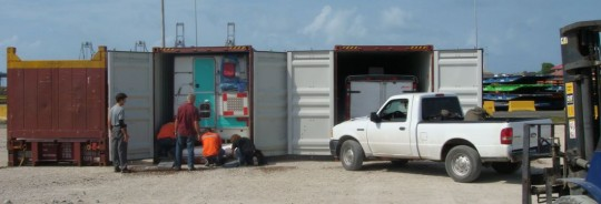 Getting ready to close the containers