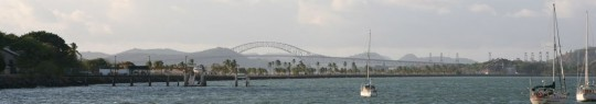 Puente de Las Americas, view from the Balboa Yacht Club