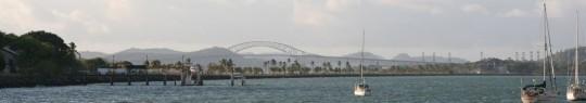 Puente de Las Americas, view from the Balboa Yacht Club