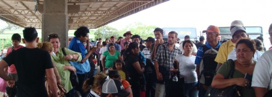 The first line, Nicaragua side
