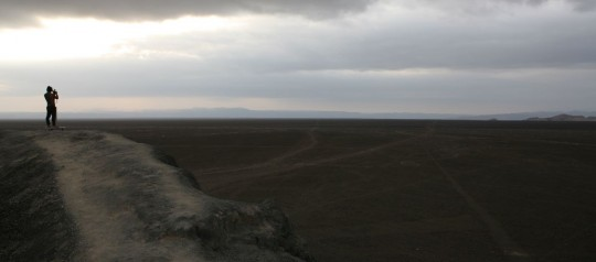Dan takes photographs of the mysterious Nazca lines