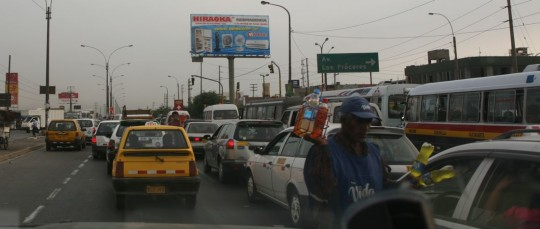Entering Lima