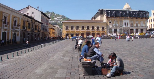Plaza in Quito, Ecuador
