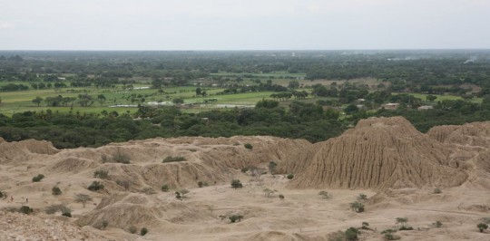 Giant adobe pyramids in Tucume