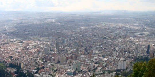 Bogota view from the peak
