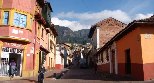 Street of old Bogota