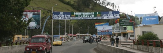 Land border between Colombia and Ecuador