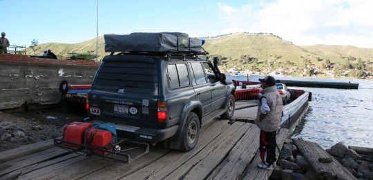 Preparing to cross the Lake Titicaca
