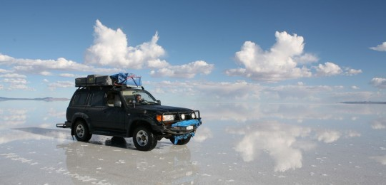At the Salar de Uyuni