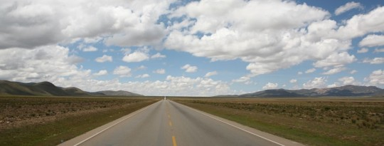We average 100 km/h (60 mph) on the endless straight roads.