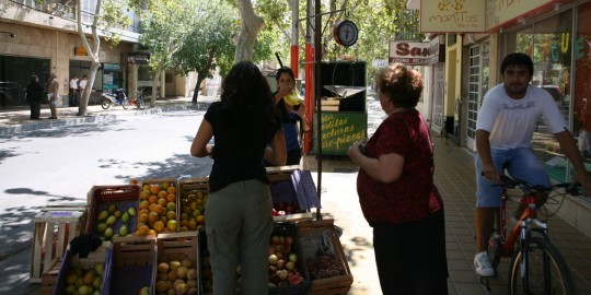 Buying fruits in San Juan