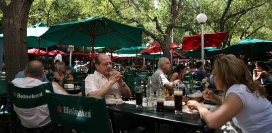 Spending time in outside cafes is a must in Argentina