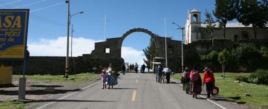 The Bolivian border