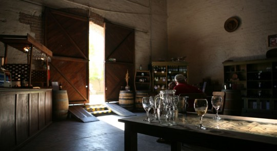 The Familia Cecchin tasting room