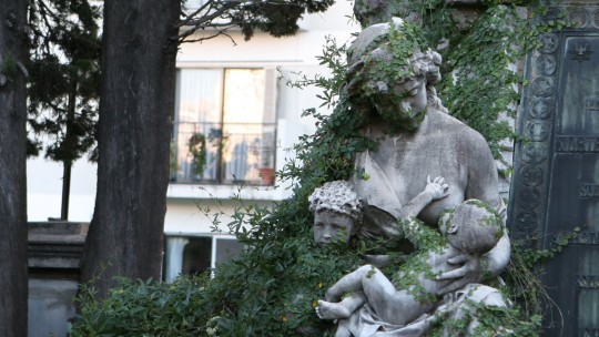 Statue in the Recoleta cemetery