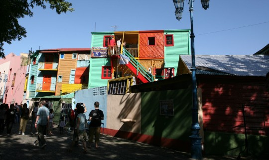 La Boca and its colored houses