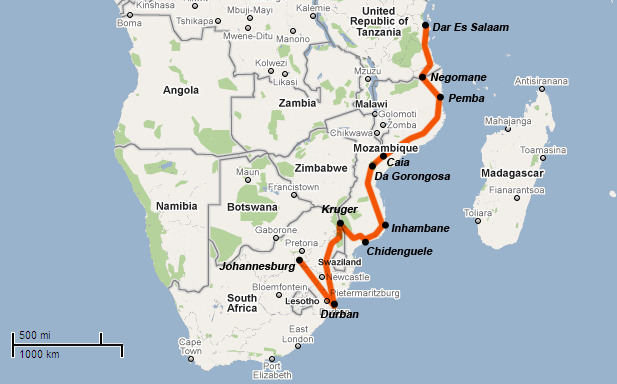 South africa trans world expedition part 2 a more precise map takes shape gumiabroncs Choice Image