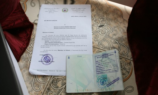 Eight days of work to get my leeter and visa from the Djibouti embassy.