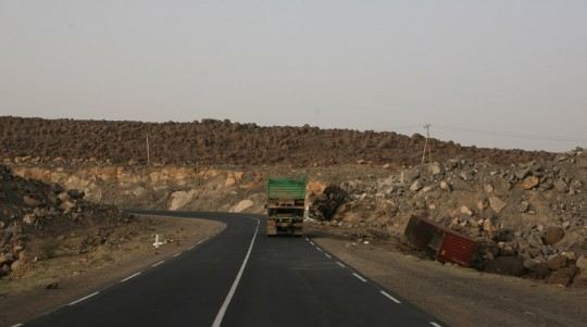 Back on the desert road.