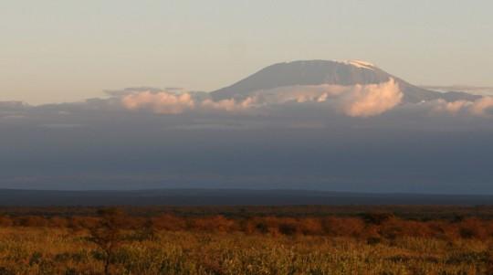 Mount Kilimanjaro, seen from Kenya.