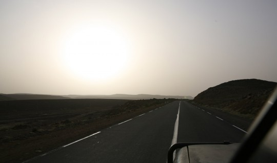 The road close to the Djibouti.