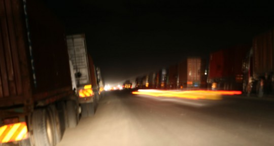 The infamous experience of driving at night in Africa.