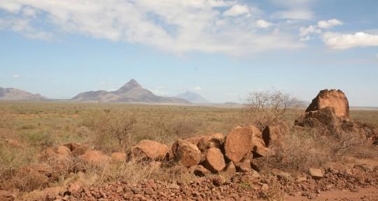 Northern Kenya landscape.