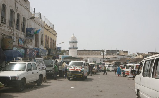 Arriving in the city of Djibouti.