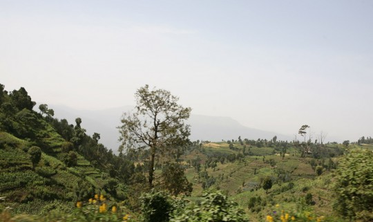 Once again across the mountains to get back to Addis.