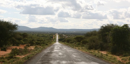After the Ethiopian border, the tarmac starts again.