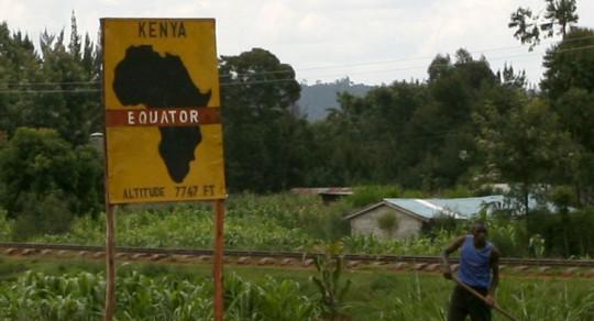 Passing the Equator line. Last time was in Ecuador.