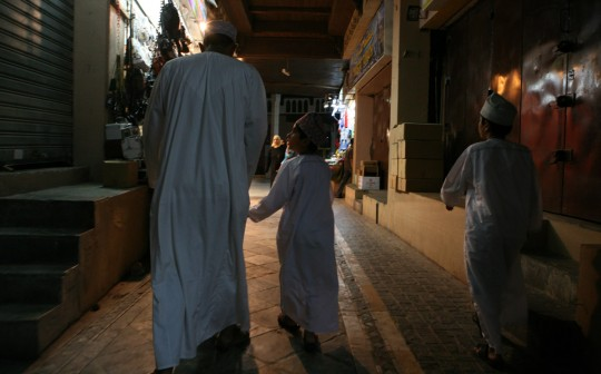 The souk at night.