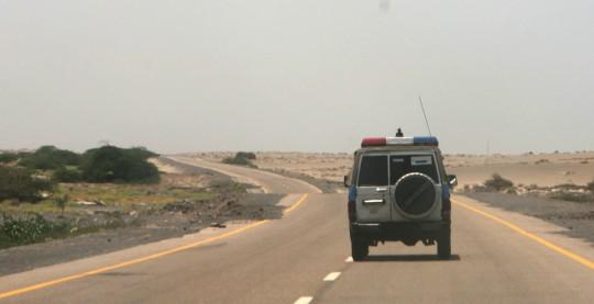High-speed tourism across the Yemeni desert.