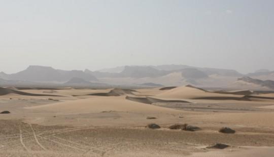 The desert in Yemen.