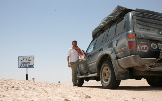 Driving toward Muscat.