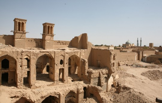 Ruins in Yazd, the 7,000 years old city.