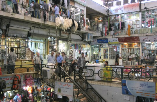 The Tehran bazaar. Probably the biggest market I see since Mexico.