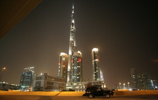 The Burj Dubai, tallest building in the world.