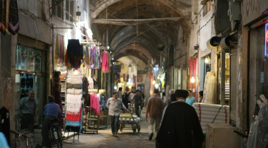 The Bazar-e Bozorg in Esfahan.