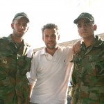 Making friends in the Iranian military.