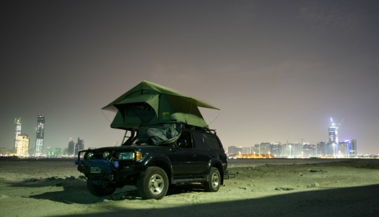 Who says you can't camp in Abu Dhabi?