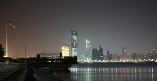 Abu Dhabi at night.