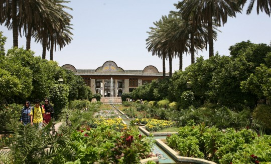 The Bagh-e Narajestan. Garden and pavilion.