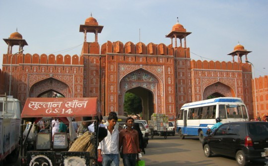 A gate leading to the Old City, Jaipur.