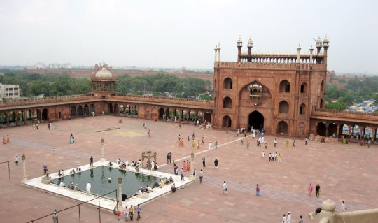The mosque courtyard.