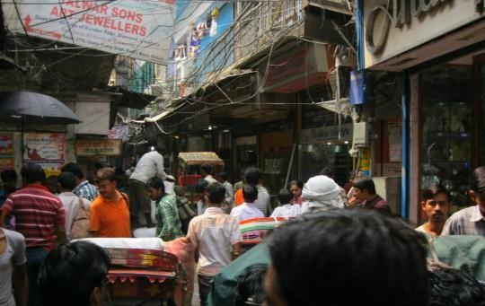Alley in Delhi's wedding district.