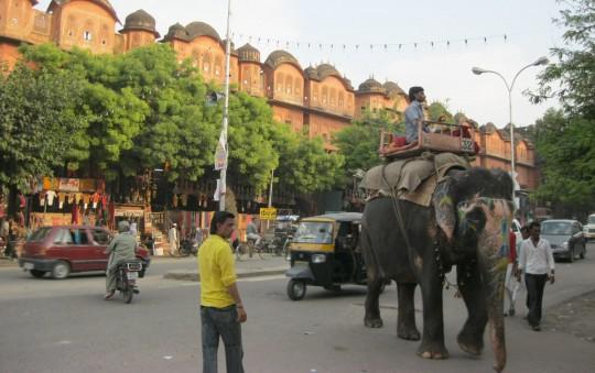 Street of Jaipur old city.