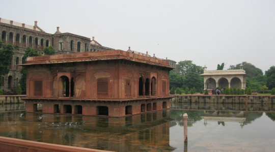 Inside the Red Fort.