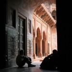 Inside the Taj Mahal.